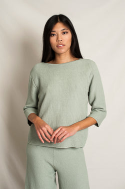 L'Envers - Marguerite Organic Cotton Top - GOTS certificated - Color Sage Green - Preview Picture