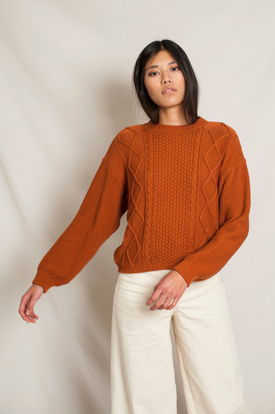 L'Envers - Paola Organic Cotton Sweater - GOTS certificated - Color Ocre - Preview Picture
