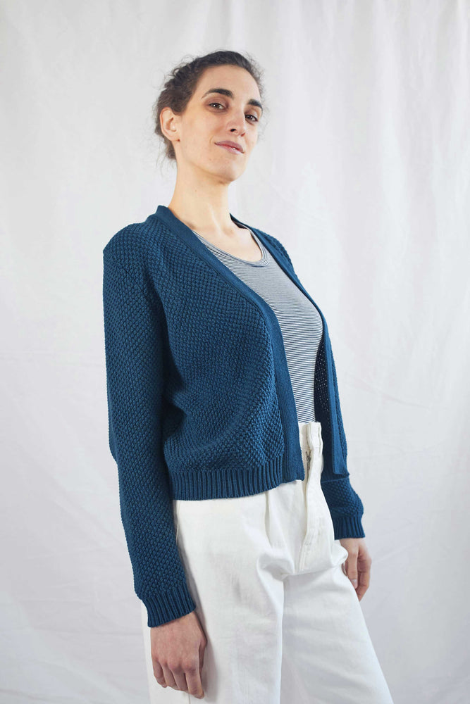 ROXANNE Navy Blue Cardigan