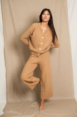 L'Envers - Louise Organic Cotton Pants - GOTS certificated - Color Cappuccino