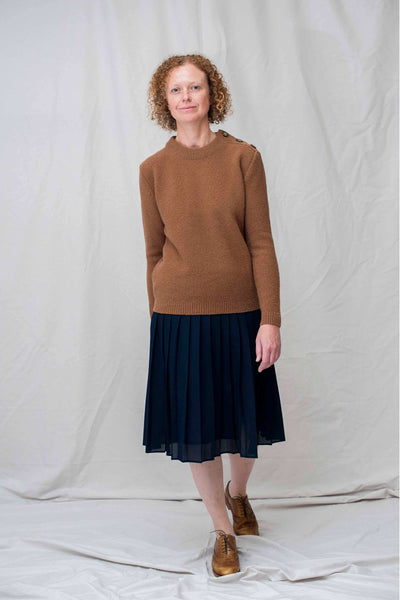 SUZANNE Camel Sweater / NEW