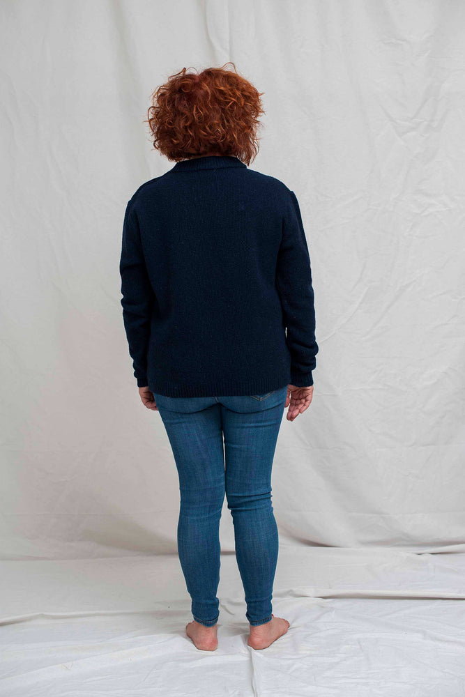 SUZANNE Navy Blue Sweater