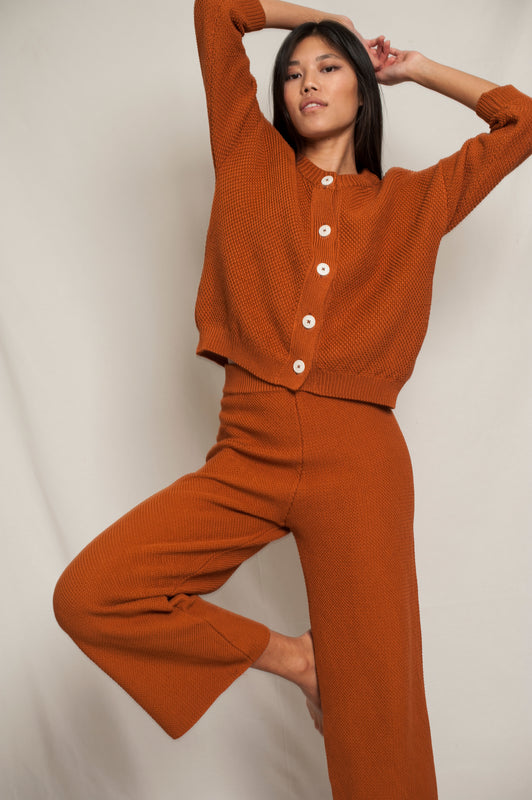 L'Envers - Séraphine Organic Cotton Cardigan - GOTS certificated - Color Ochre - Preview Picture