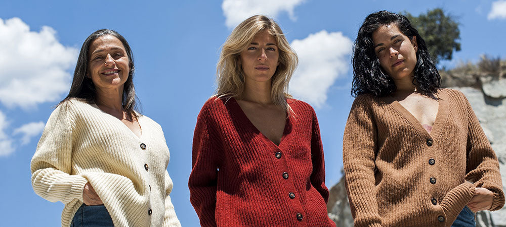 Claude Cardigans - 100% Spanish Merino - Knitted in a locally family owned ateliers in Spain - L'Envers