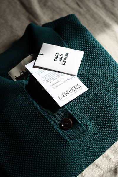 L'Envers - Made to Order Pieces in Organic Cotton and Natural Wool - Sustainable Packaging
