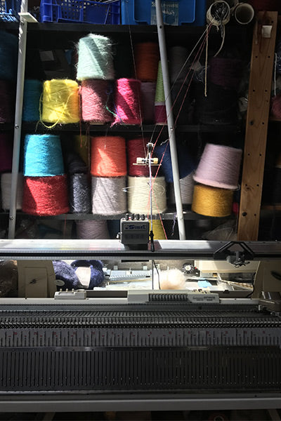 L'Envers - Hand Knitted pieces - Liliana's knitting machine