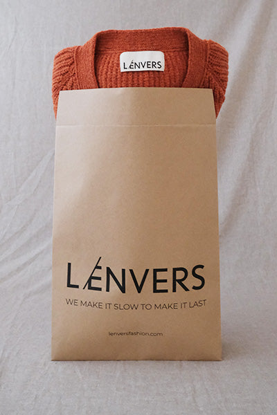 L'Envers - Made to Order Pieces in Organic Cotton and Natural Wool - Compost Packaging