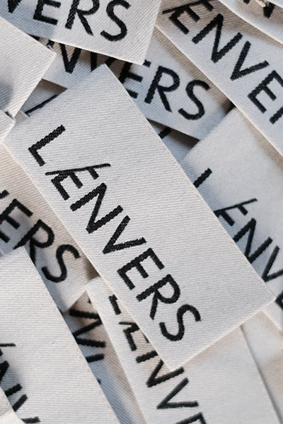 L'Envers - Made to Order Pieces in Organic Cotton and Natural Wool - Woven L'Envers Label