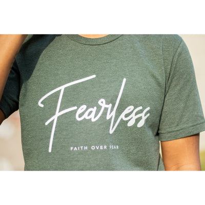 Olive fearless tshirt