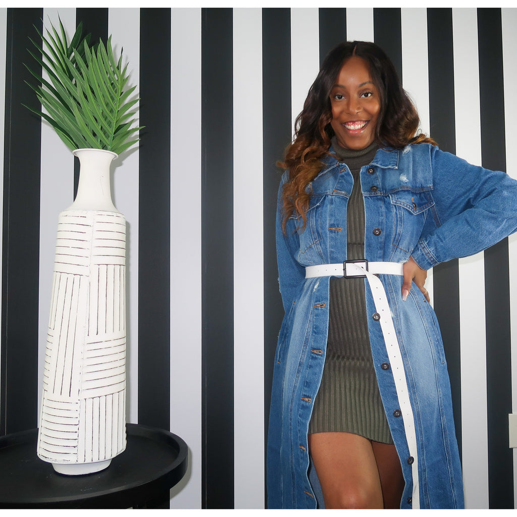 """Vogue"" Denim Duster"