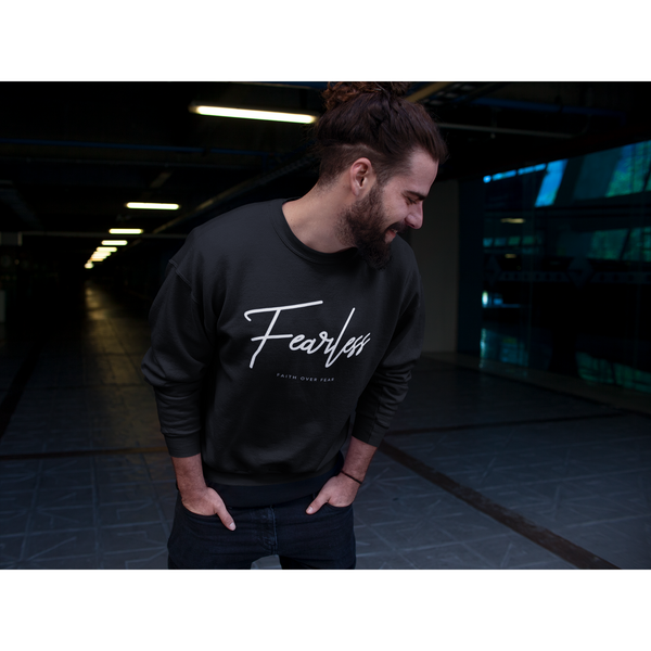 Classic Black Fearless Crew Neck