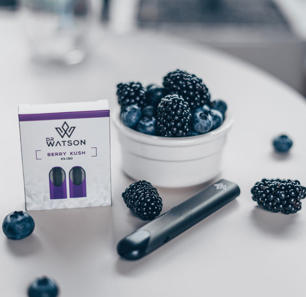 Dr Watson Berry Kush Flavour for CBD Vape pod system collection