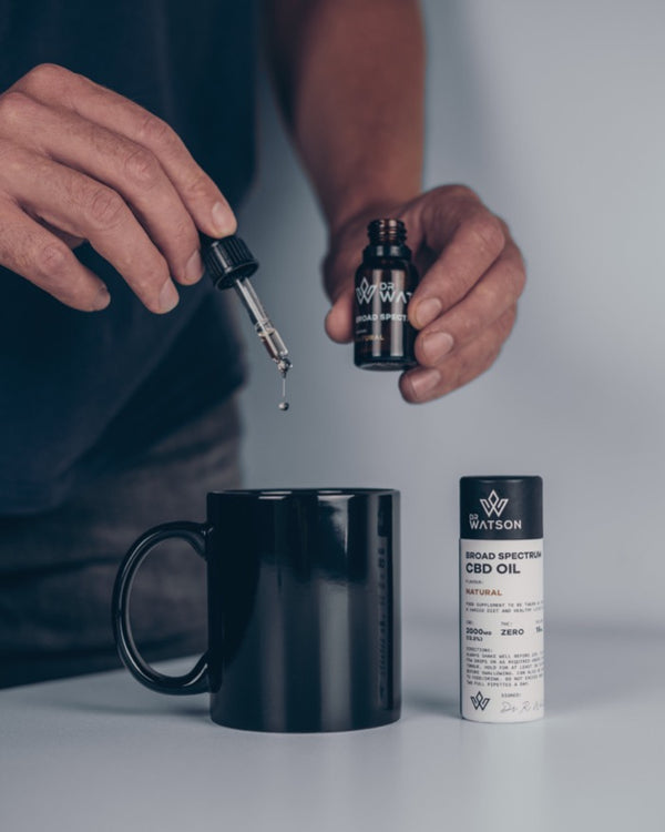 Dr Watson CBD CBG Full Spectrum oil Tincture drops for health wellbeing supports sleep and mind Buy Online in the UK Today