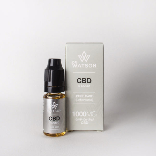 Dr Watson Flavourless Vape Additive. 10% CBD to add to your favourite flavours or vape alone. Calm, Relax, unwind. Shop Dr Watson CBD