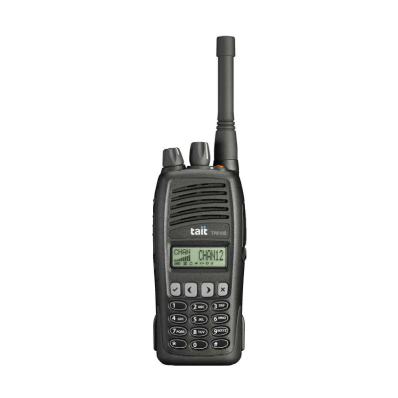 TAIT TP8120 Portable Analogue Radio, with full keypad.