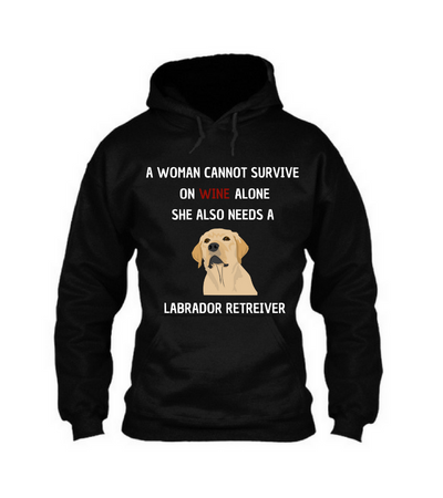 Woman needs labrador
