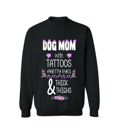Dog mom with tattoos