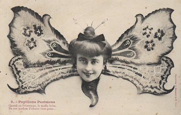 Surreal French Butterfly Postcard