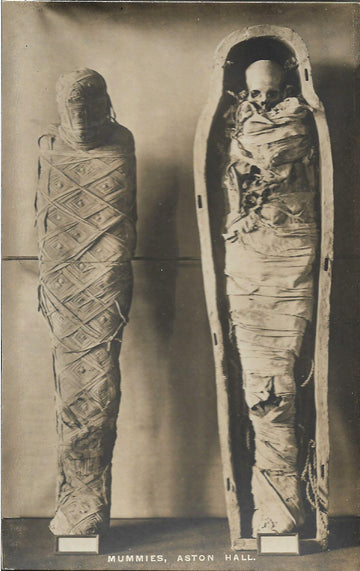 Mummies at Aston Hall RPPC