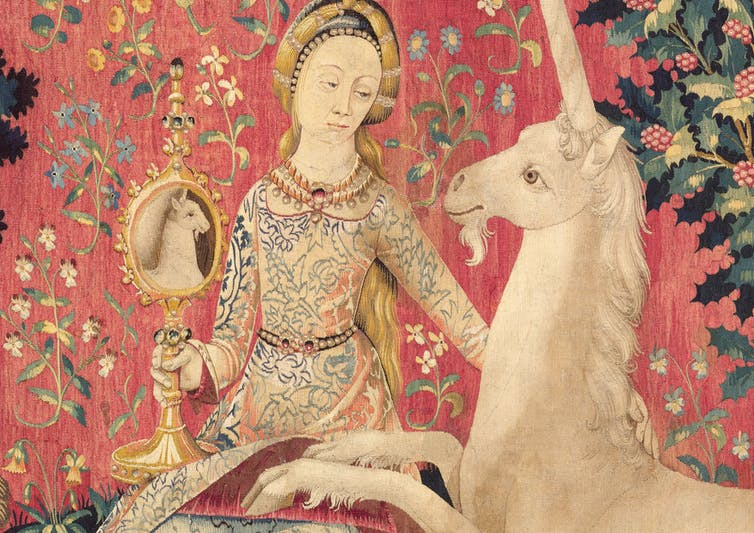 The Lady and the Unicorn - 1920s Tapestry Purse