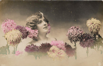 Garden in the Clouds - 1900s Hand-Tinted Postcard