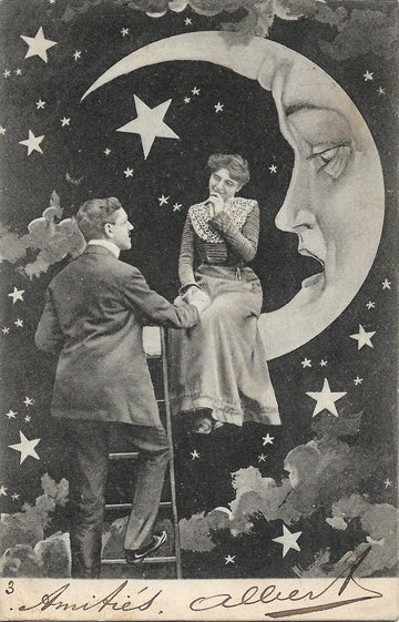 1900s Paper Moon Postcard no. 1