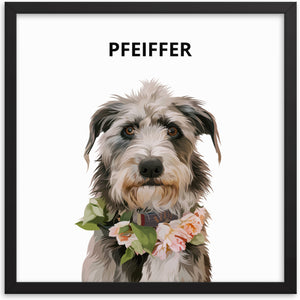 Custom Pet Portrait - Modern Illustration - Dawn Poets