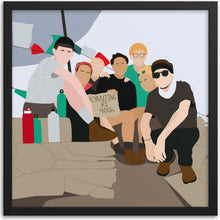 Load image into Gallery viewer, Custom Group Portrait - Color Block Illustration - Dawn Poets