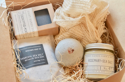 Sea Salt & Charcoal - Bath Lover Gift Set