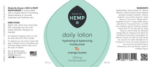 CBD Daily Moisturizing Face & Body Lotion