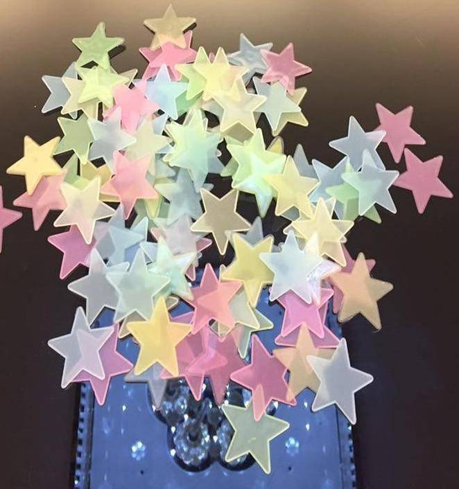 100 pcs Glow in the Dark Luminous Star Stickers