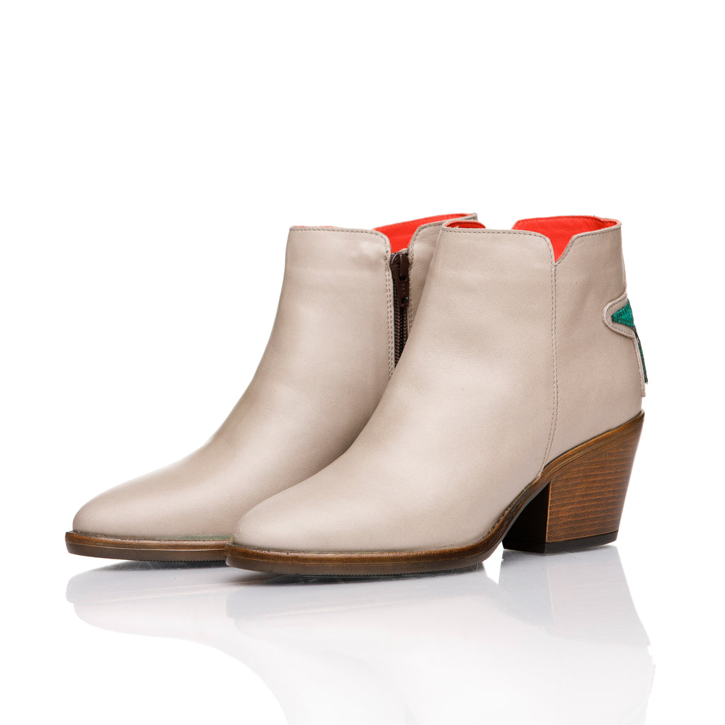 Stella, ankle boots piele naturala