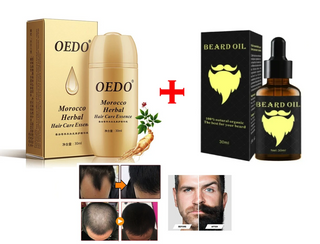 Herbal Baldness Head Hair + Beards Growth Serum - Combo Pack