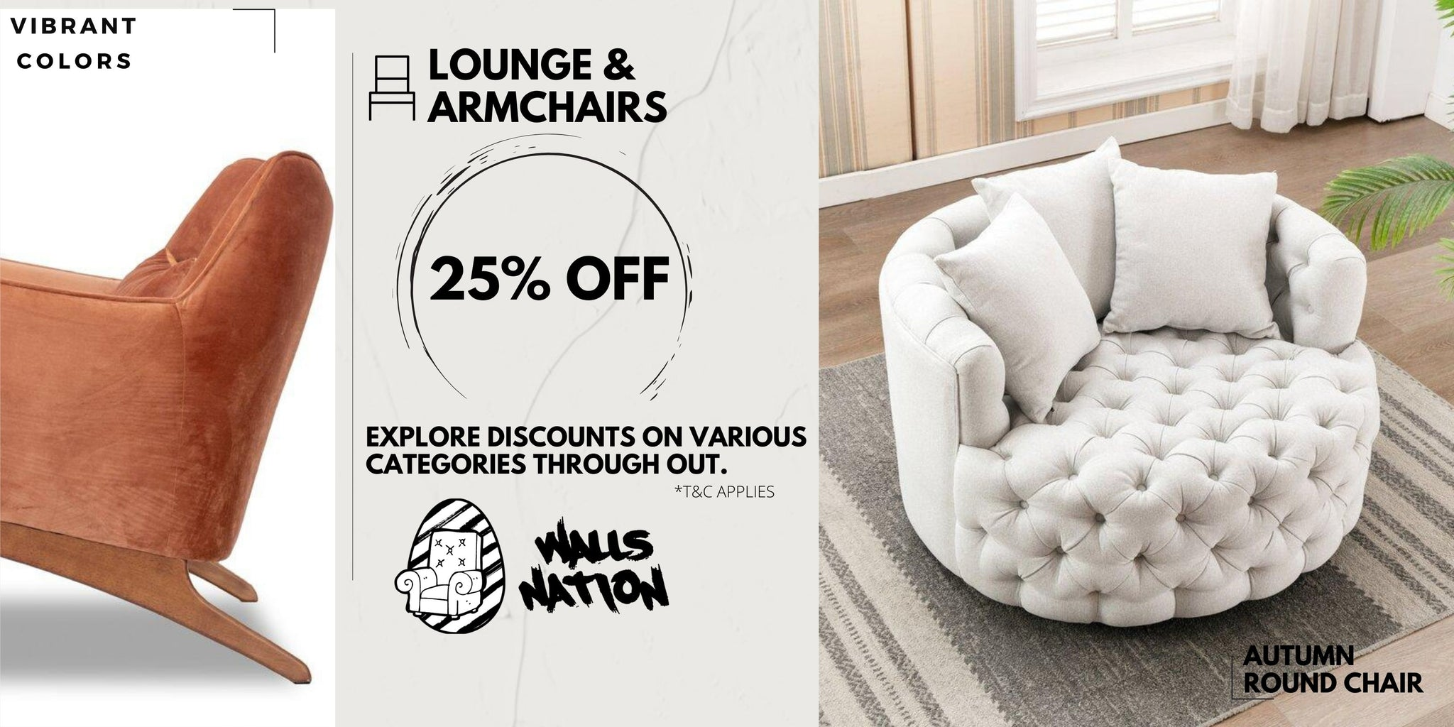 25% Exclusive Sales On All Chairs