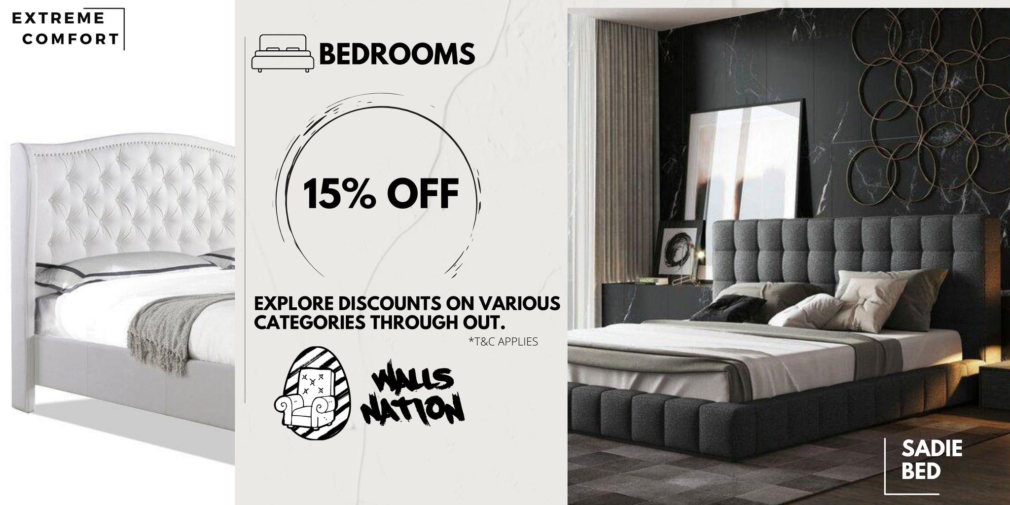 15% Exclusive Sales Off All Beds