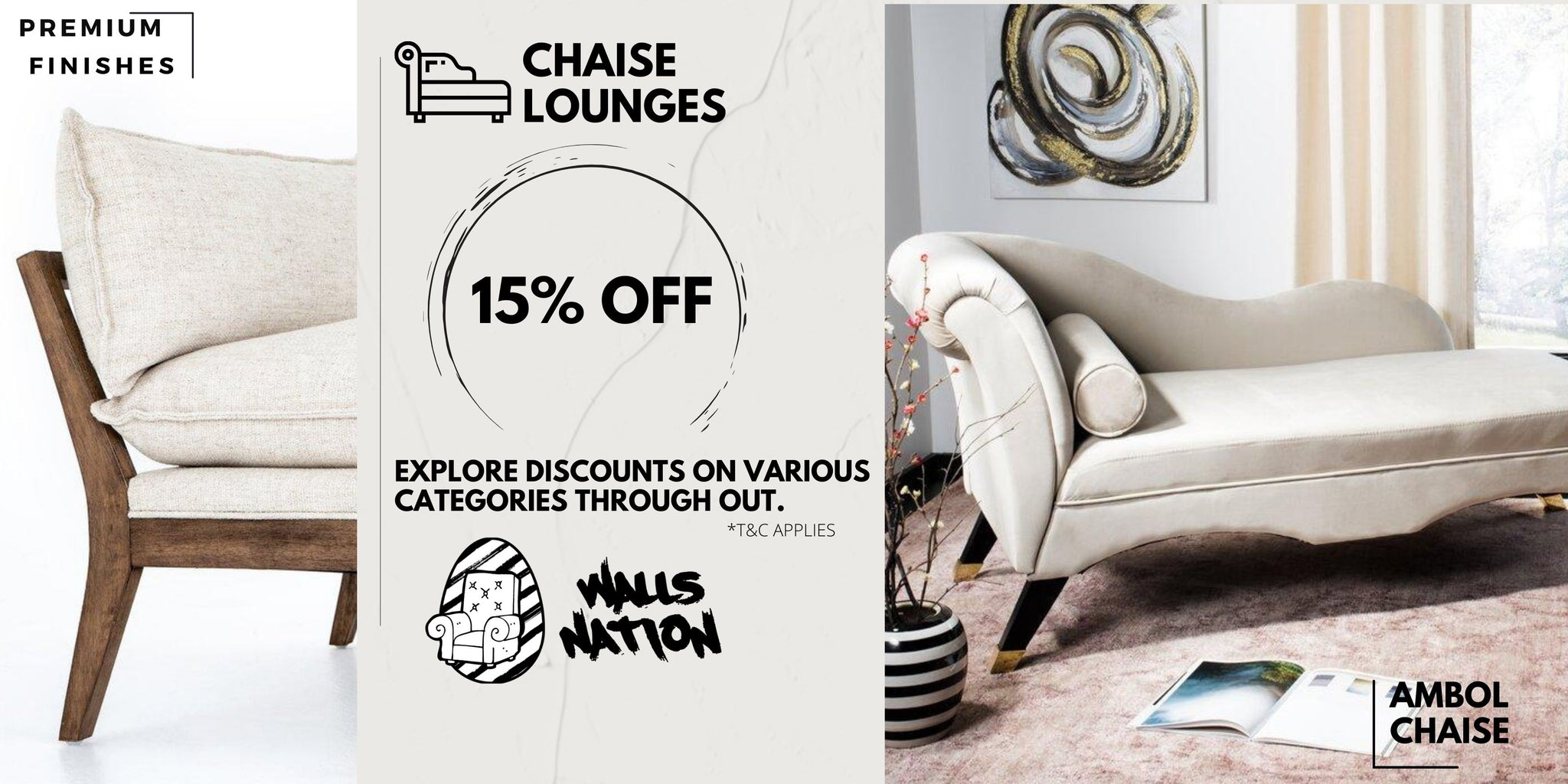 15% Exclusive Sales On All Chaise Lounges