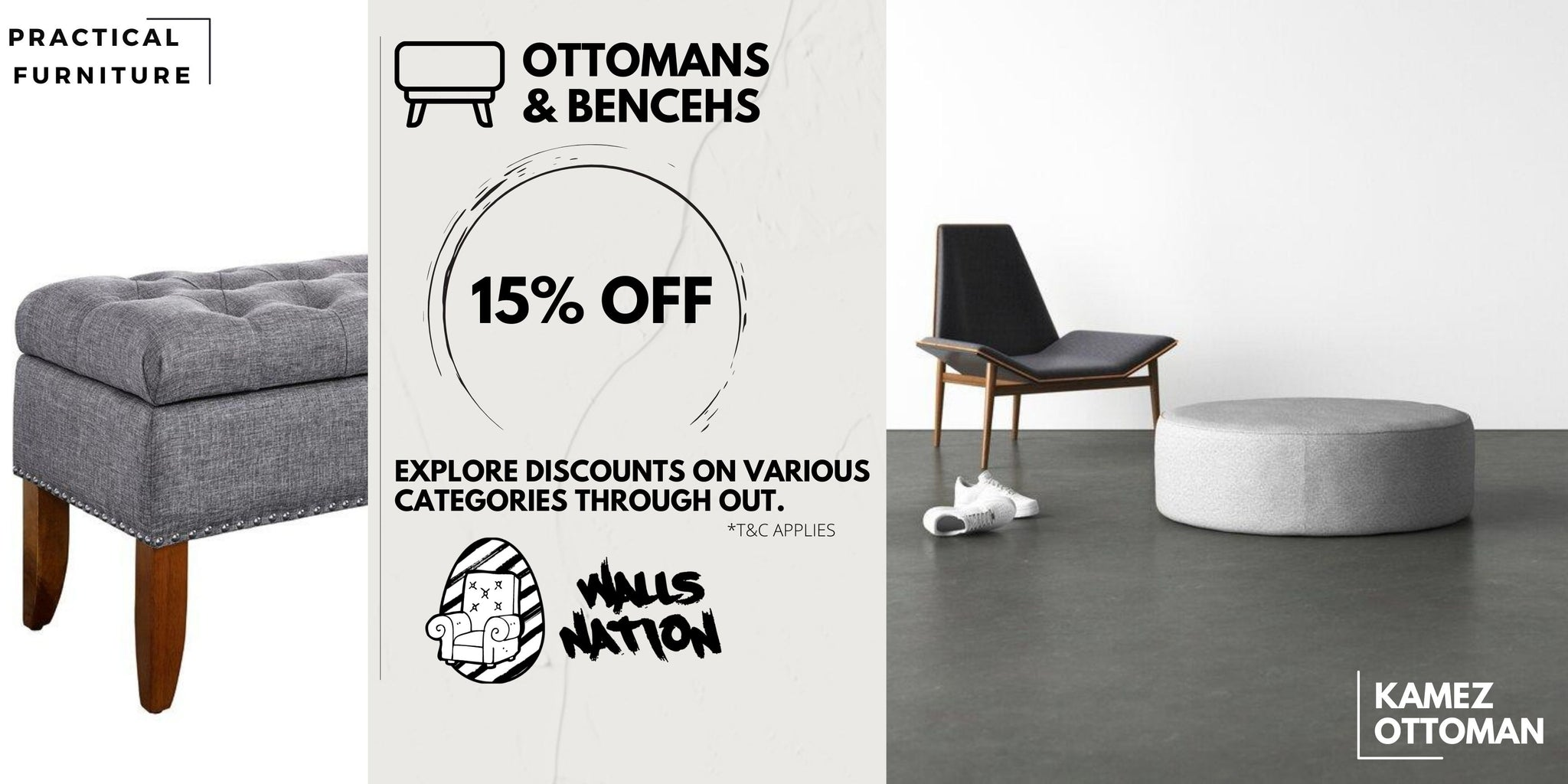 15% Exclusive Sales On All Ottomans