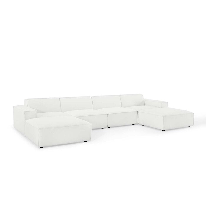 Chrysoprase Symmetrical Sectional with Ottoman