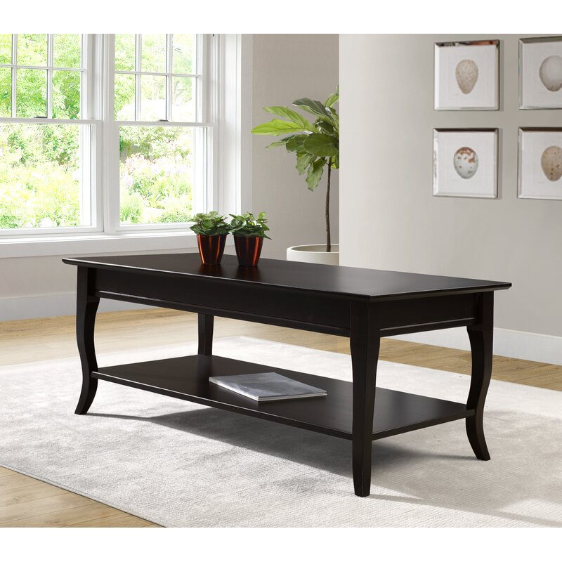 Archie Solid Wood Coffee Table with Storage