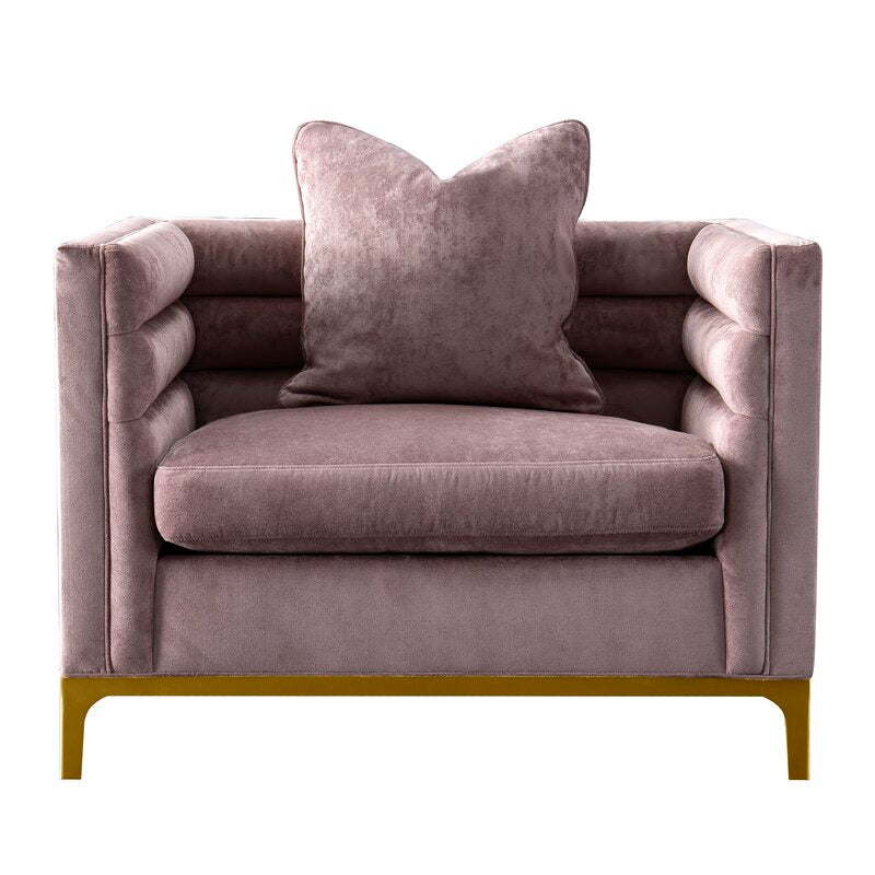 Ayla Design Collection / 110 x 84 CM 1S Velvet Upholstery