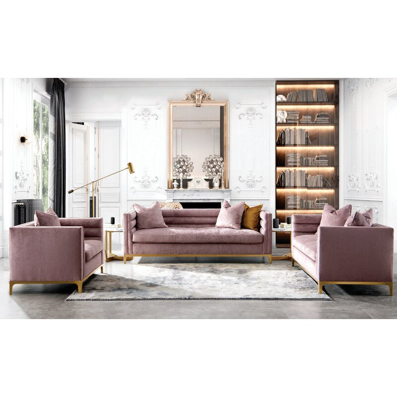 Ayla Design Collection / 225 x 84 CM 3S Velvet Upholstery