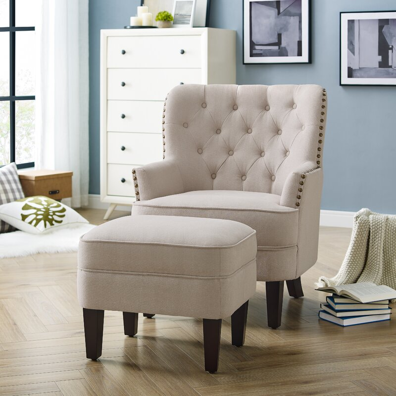 Clara Chair Front Scene White Color