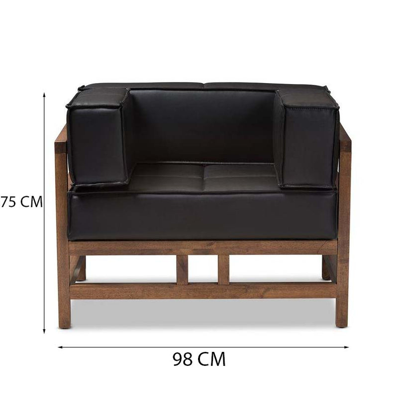 Nara Club Chair / 75 x 98 CM Leather Upholstery