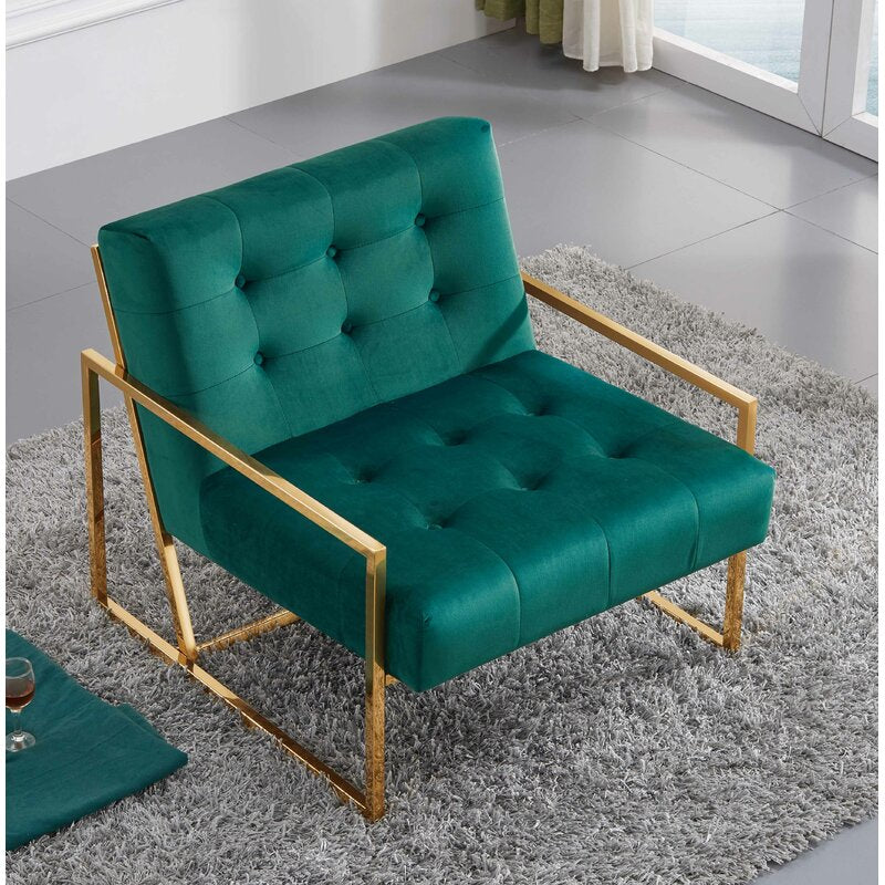 Theo Arm Chair / Velvet Upholstery