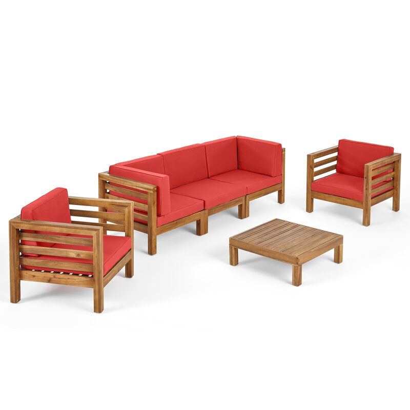 Natural Teak / Red Seating