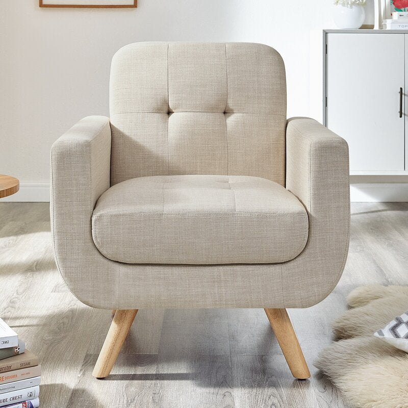 Leonie Arm Chair / Linen Upholstery