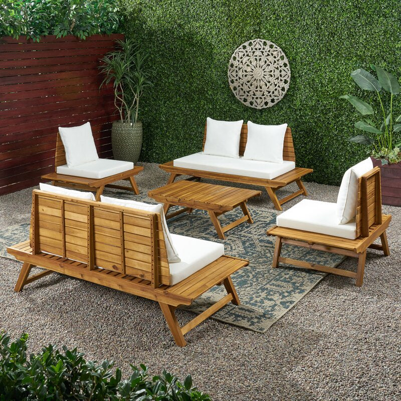 Maurice Outdoor Teak Extended Set / 6 People.