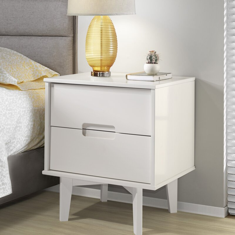 Riva Double Drawer Nightstand