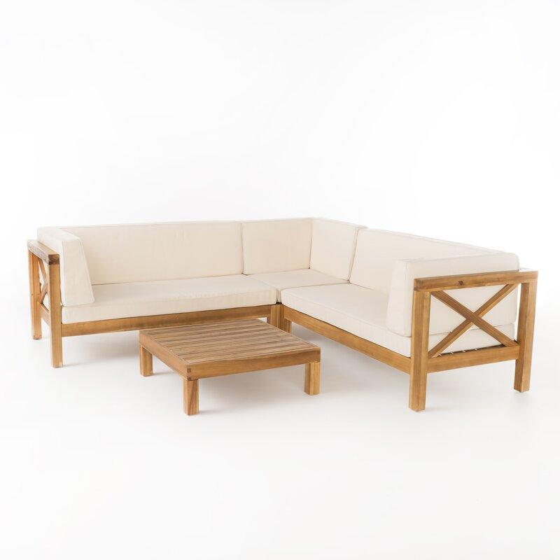 Natural Teak / White Seating