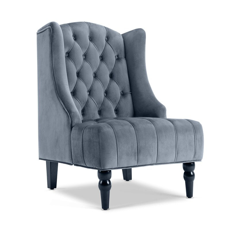 Viena Arm Chair / 76 x 75 CM Velvet Upholstery